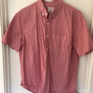 Old navy red and white short sleeve